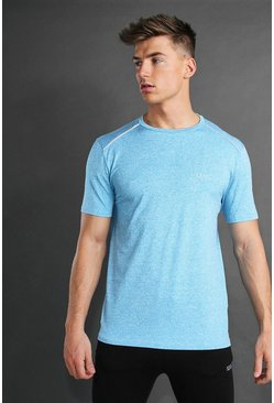 Blue MAN Active Marl T-Shirt With Reflective Detail