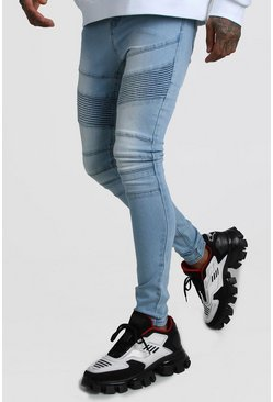 Super Skinny Biker Jean, Light blue Синий