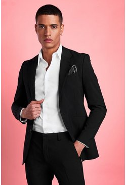 Black svart Blazer i super skinny fit