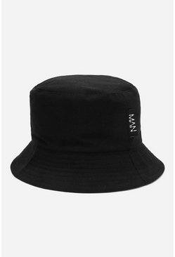 MAN Dash Tab Bucket Hat, Black