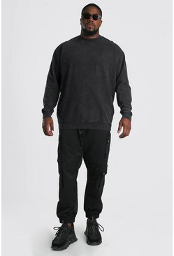 Plus Size MAN Official Sweater, Charcoal Серый