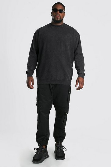 Charcoal grey Plus Size MAN Official Sweater
