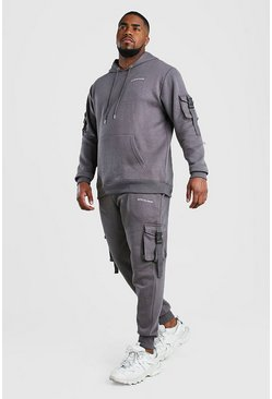 Slate grey Plus Size MAN Official Utility Tracksuit