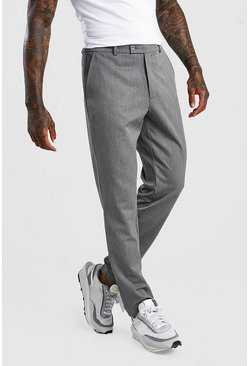Pantalon court slim casual, Gris