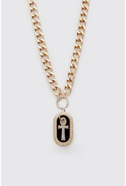 Gold metallic Cross Pendant Necklace