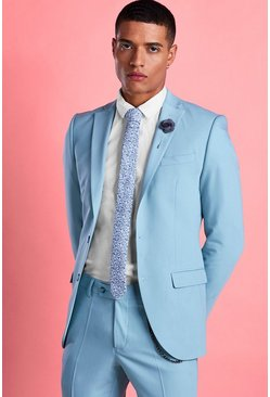 Blue Super Skinny Fit Blazer