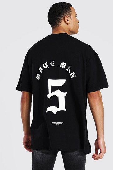 Black Tall Oversized Crew Neck T-shirt