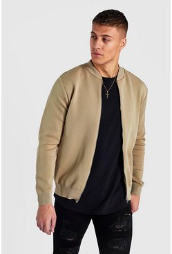 Camel Smart Knitted Bomber