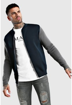 Marineblauw navy Nette colourblocking bomber