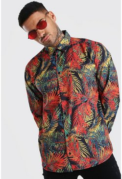 Multi Long Sleeve Shirt In Palm Print