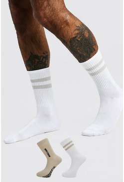 Off white white MAN Official 'Edition' 2 Pack Socks