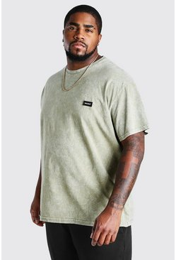 Sage Big And Tall MAN Official Tab Acid Wash T-Shirt