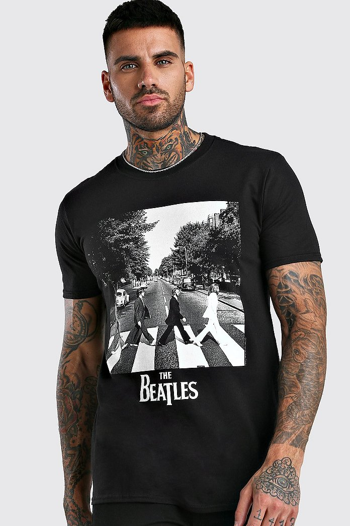 Abbey Road T shirt med Beatles tryck | boohoo SE
