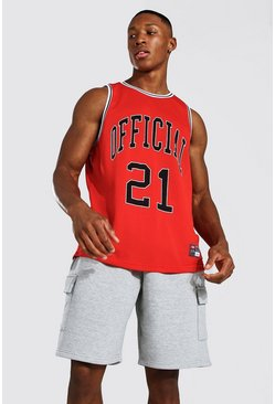 Red MAN Official Mesh Basketball Vest