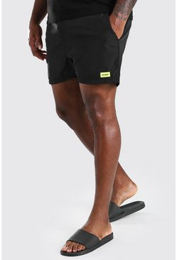 Black Plus Size MAN Official Swim Short