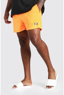 Big And Tall MAN Official Badeshorts, Neon-orange