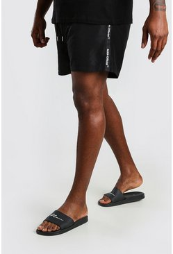 Black Big And Tall MAN Official Tape Swim Short