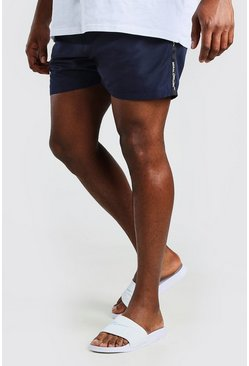 Big And Tall MAN Official Badeshorts mit Streifen, Marineblau