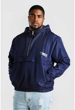 Navy Big And Tall MAN Tape Harrington Cagoule