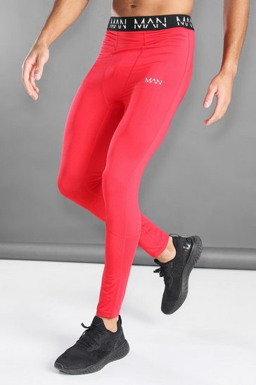 Red MAN Active Compression Tights