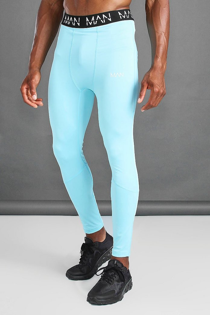 Man Active Compression Tights Boohoo Ireland