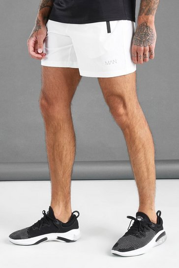 White MAN Active Waistband Shorts