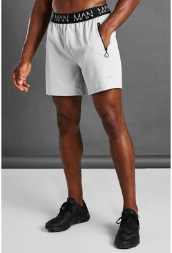Grey MAN Active Waistband Shorts
