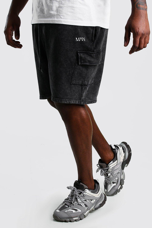 BIG & TALL Big And Tall MAN Acid Cargo Jersey Shorts