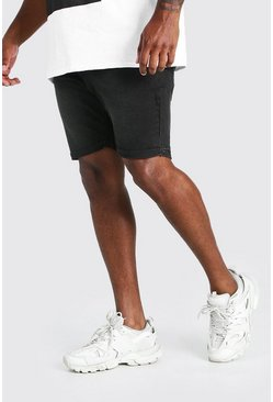 Charcoal Plus Size Skinny Fit Denim Shorts