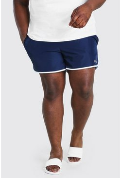 Navy Plus Size MAN Dash Runner Swim Short