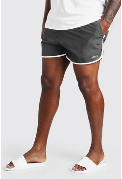 Slate grey Big And Tall MAN Dash Runner Swim Short