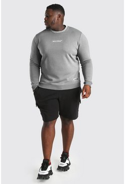 Slate grå Plus Size MAN Official Sweater