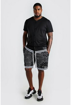 Black Plus Size Airtex Baseball Hi-Lo Set