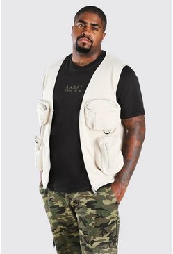Stone beige Big And Tall Scuba Utility Vest