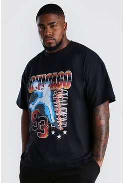 Black Plus Size Chicago T-Shirt
