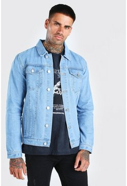 Light blue blue Regular Denim Western Jacket