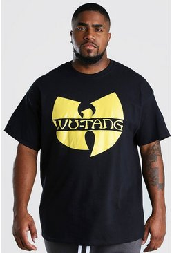 Black Plus Size Wu-Tang Clan Print T-Shirt