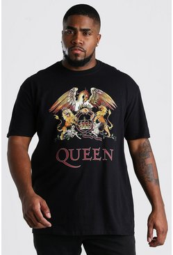 Black Plus Size Queen Print T-Shirt