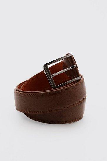 Brown Split Leather Belt