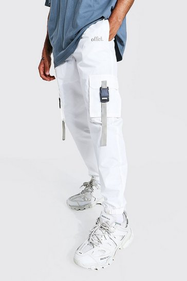 Ecru white Offcl Cargo Trouser With Straps