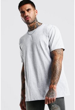 Grey Oversized Crew Neck T-Shirt
