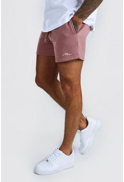 Mauve purple MAN Signature Short Length Jersey Shorts