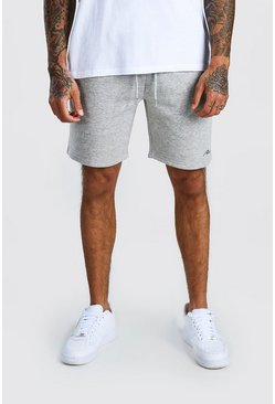 Grey marl grey MAN Signature Relaxed Fit Jersey Short
