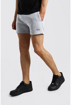Short Man court en jersey original, Gris chiné gris