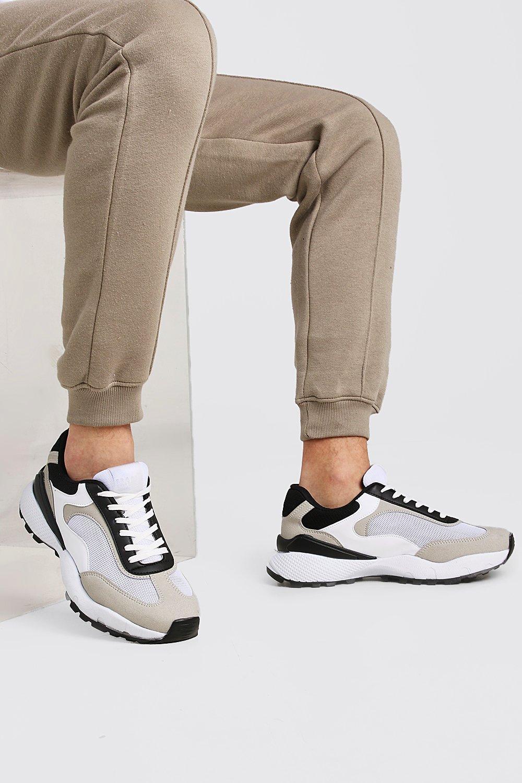 Men's Sale Shoes Hiker Sole Panelled Trainer