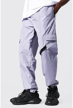 Grey Multi Panel Cargo Trouser