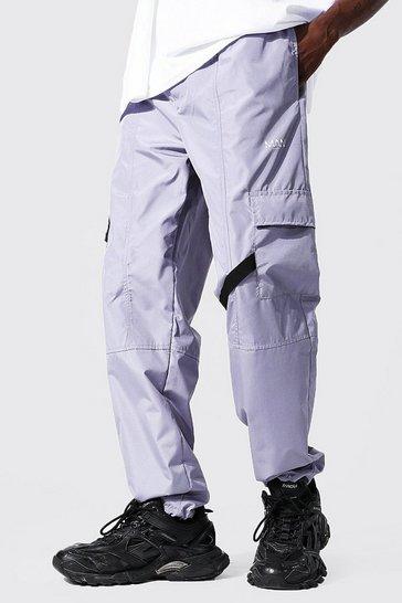 Grey Multi Panel Cargo Trouser