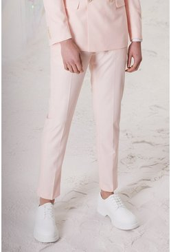 Light pink Skinny Plain Suit Trouser