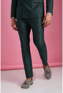 Green Skinny Plain Suit Trouser