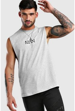 Grey marl Original MAN Drop Armhole Tank